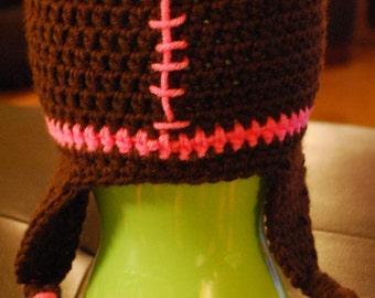 Girl's Earflap Football Hat
