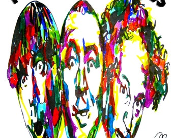 "The Three Stooges: POSTER from Original Drawing 18"" x 24"" Signed & Dated by Artist w/COA"