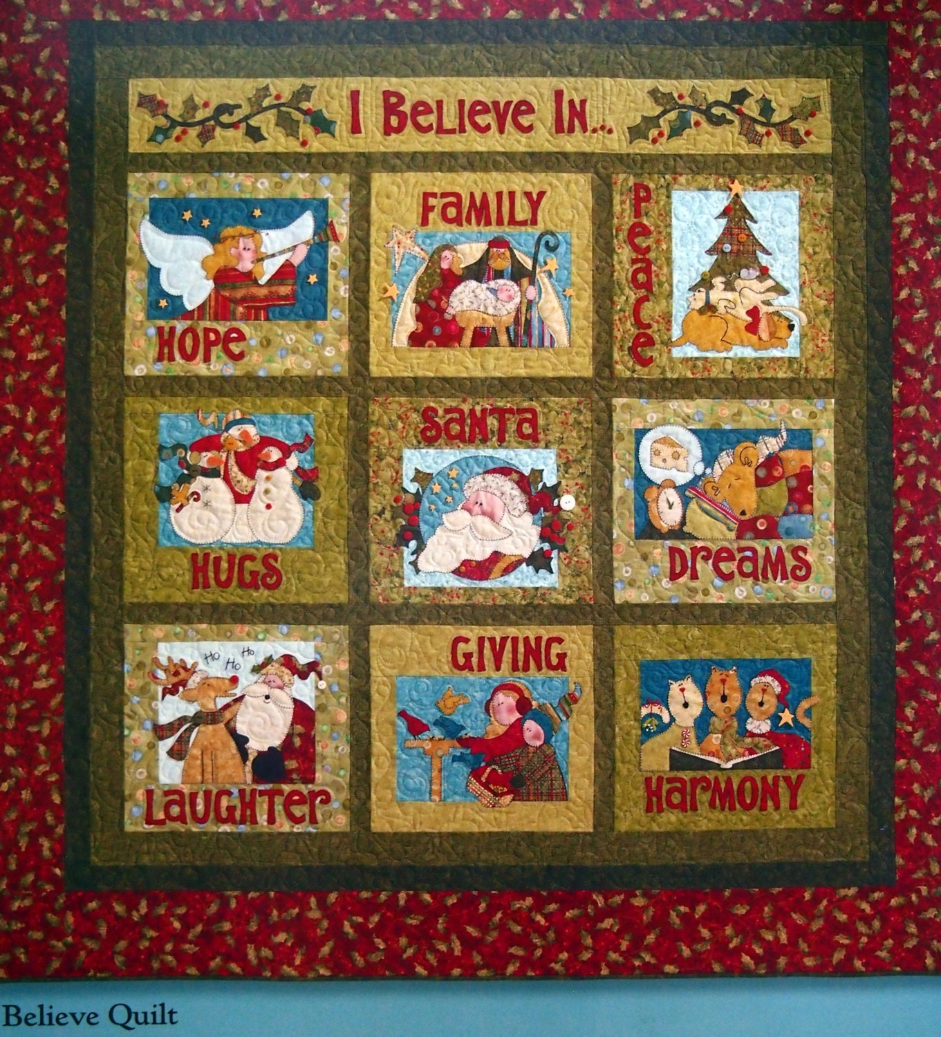 I believe by nancy halvorsen and art to heart christmas for Patchwork quilt book