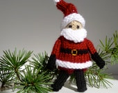 Knit Santa Claus Toy, a miniature Christmas Dolls, Gifts or Decoration