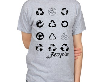 Recycling Symbols T-shirt, Recycle Logos Shirt, Save the Planet Graphic Tee