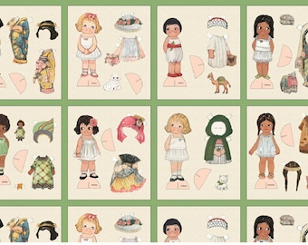 New Paper Dolls from Newcastle Fabrics sold by Panel