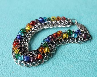 Spectrum Dots bobble chain maille bracelet
