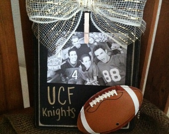 University of Central Florida Football Picture Frame-Rustic-Gold-Black-UCF Frame