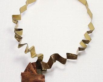 v e r t i c e s . 1 brass and copper wearable art