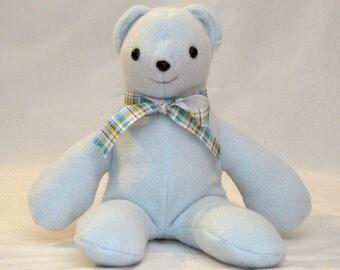 Light blue fleece teddy bear