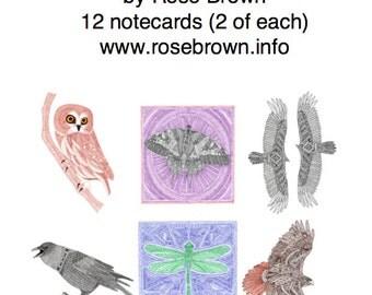Pack of 12 Notecards: Wings