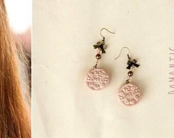 Oreo Cookie Earrings / Romantic earrings / Polymer clay / Cute Oreo Earrings