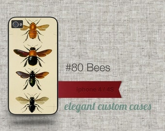 Cell phone case iphone 5 / 5s / 5c 4 / 4s samsung galaxy s3 / s4 -Bees Number 80