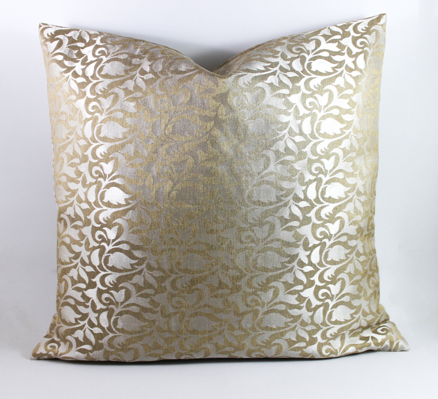 Decorative Silk throw Pillow Cover Silk Pillow by Fabricasia