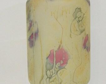 Hand Painted Glass Vase BZT Ltd. Israel One Of A Kind Vintage