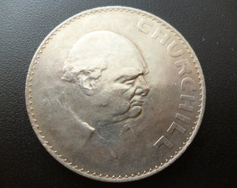 1965 Crown Coin Minted to commemorate the death of Sir Winston Churchill in 1965 in good un-circulated condition.