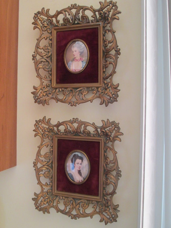 Vintage Cameo Creation Wall Art Set Marquise De Brincourt By