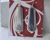 1930 Chevron Spoon Earrings