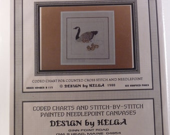 Canada Goose with Chicks pattern from Design by Helga