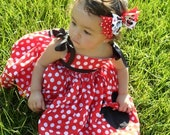 Minnie Mouse Red and White Polka Dots Girls Dress