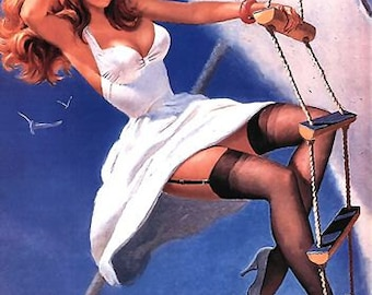 1950's Vintage Pin-Up Girl Poster 19