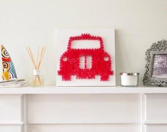 Handmade London Taxi String Art (35cm X 35cm)