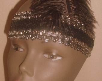 New silver sequined choker 1920's flapper costume costumes accessories