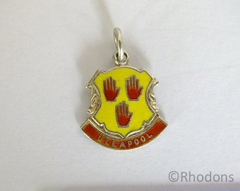 Silver & Enamel Travel Shield Charm - Ullapool Scotland