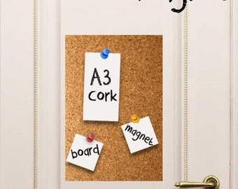 MAGNETIC CORKBOARD - A3 Free Shipping!