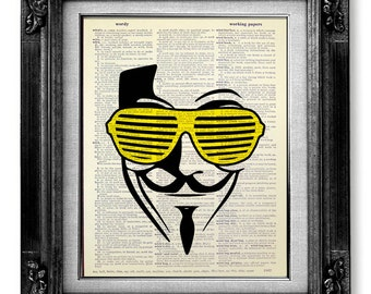 Book page art hipster art nerdy poster dorm room decor for Cool posters for your room