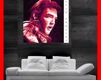 Elvis Presley THE King jailhouse rock Colorful  Poster print art  HH10508 S38