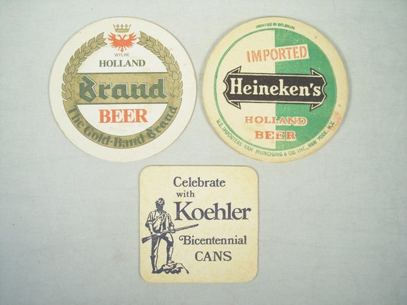 Holland Beer Coasters Beer Mats Drink Dutch Heineken Royal