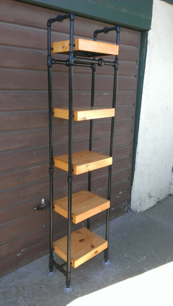 Items similar to tower bookcase made with steel pipe frame