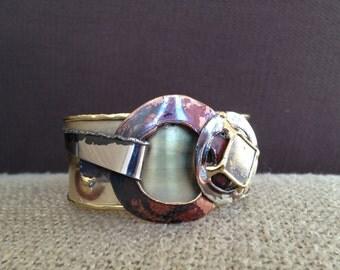 Striking Mixed Metal Cuff Bracelet
