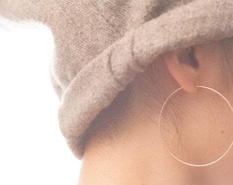 Handmade Gold Filled Large Hoop Earrings