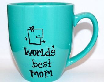 Hand Drawn World's Best Mom Mug (Customizable)