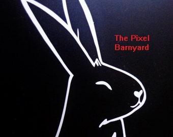 Happy Bunny Rabbit Vinyl Decal