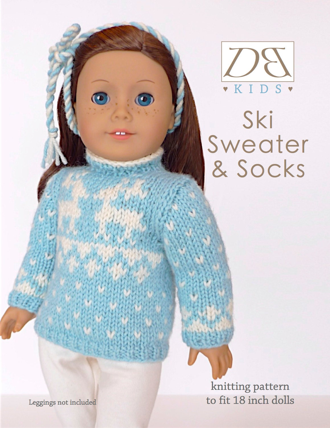Knitting Pattern 18 Doll Sweater : Doll clothes knitting pattern PDF for 18 inch American Girl type doll (AG dol...