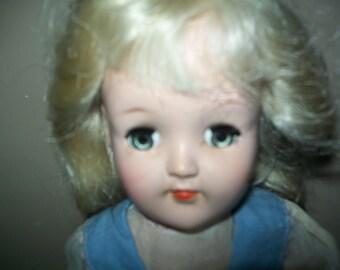 """1949 Ideal Toni Doll, 14"""" tall"""