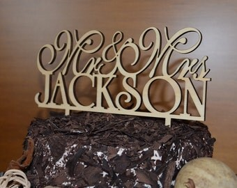 Natural Wood  Wedding Cake Toppers and More