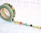 Birds on a Wire Washi Tape / decorative tape scrapbooking gift wrap crafting tape patterned tape