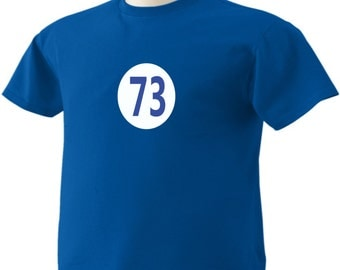 Big Bang Theory T-Shirt Sheldon Cooper 73 TBBT