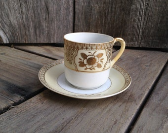 Set of 5 Vintage Chikaramachi Demitasse cup and saucer