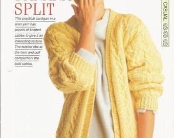 "Knitting pattern - Woman's ""Banana Split"" cardigan - Instant download"