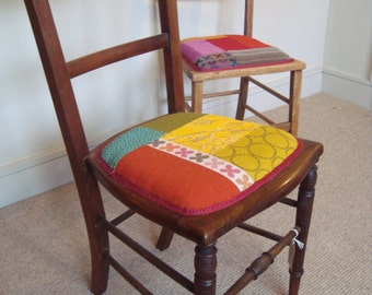 Fine, Period bedroom chairs restored and reupholstered with high quality furnishing fabric.