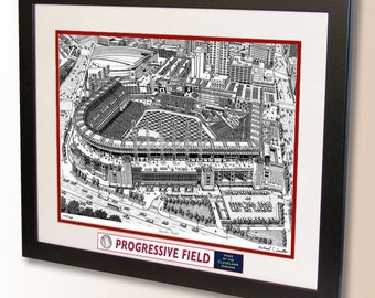 Progressive Field Art, home of the Cleveland Indians