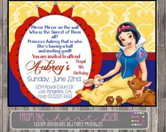 Snow White Birthday Invitations Gangcraft Net