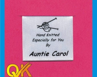 Sew in labels for your Knitting projects printed for you    (Style02) Pack of 25