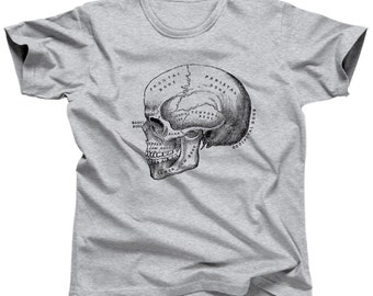 Skull Anatomy Diagram T-Shirt -  Sizes Small-3X - (Please see SIZING CHART in Item Details)