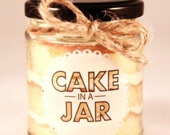 Small Vanilla Dream Cake in a Jar