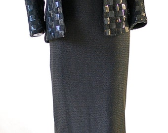 Beautiful Vintage Leo Narducci Evening Jacket and long dress. Size small   30% off sale  Use Code VintageSpring30