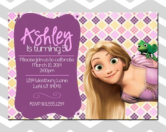 Tangled Girl Birthday Card/Invitation