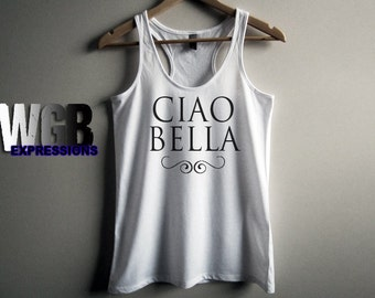 Ciao Bella womans tank top white