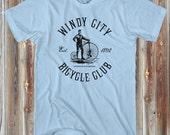 Men's Windy City Bicycle Club - T-shirt - XS S M L XL 2X 3X 4X - 4 Colors WCBC - Chicago Bicycle Shirt, Husband Gift, Him, Cycling, Vintage